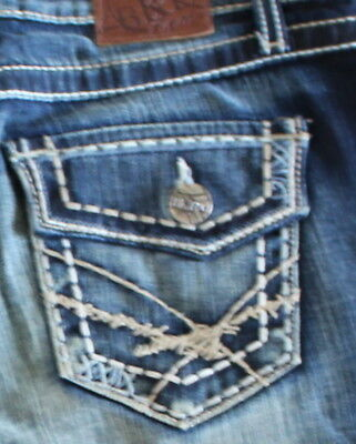 3ad172e4be BKE Jean Shorts called SABRINA STRETCH Women's Denim Blue Jeans size 28