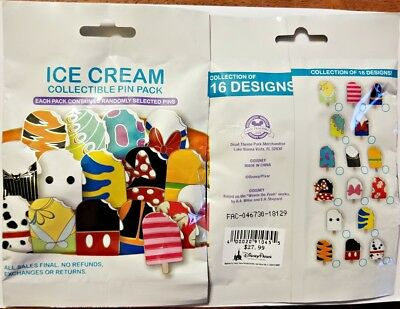 Disney Collectible Pin Pack ICE CREAM Mystery Bag of 5 Pins Sealed NEW
