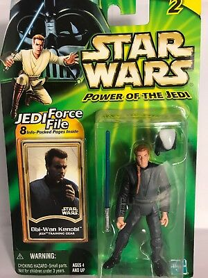 "New Hasbro Star Wars POTJ 3.75"" Obi-Wan Kenobi Jedi Training Gear Figure Sealed"