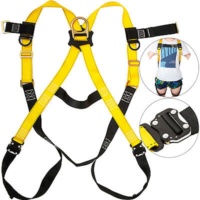 Construction Harness Full Body Type W/1 Rear D-Ring Polyester  Roofers Safety