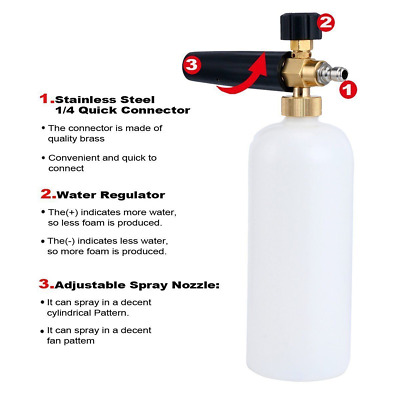 Snow Foam Cannon Bottle Lance For Pressure Washer Soap Spray Jet Gun Car Wash