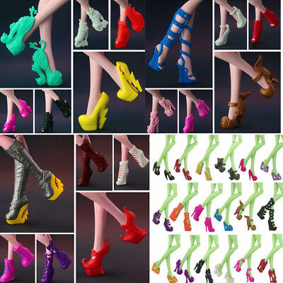 4Pair Different Heels Boots Shoes Clothe Accessories for Monster High Dolls Gift