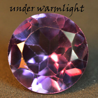 4.40ct.AWESOME RUSSIAN COLOR CHANGE ALEXANDRITE ROUND GEMSTONE