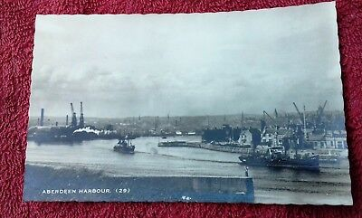 Vintage Rp Postcard: Aberdeen Harbour. By Millar & Lang, Glasgow.