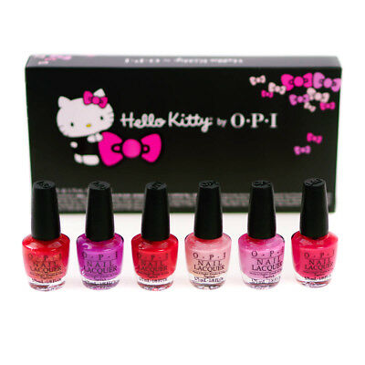 Opi Pink Nail Polish Hello Kitty Collection Gift Set 6 X