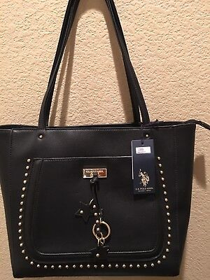 US Polo Association Purse Brand New With Tags Still On Black Large Tote Bag