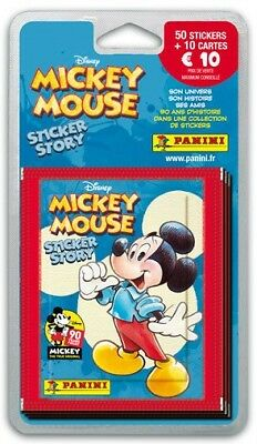 Lot 50 Stickers Mickey Mouse Panini + 10 Cartes 90 Ans De Mickey - Neuf À Ouvrir
