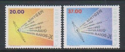 Cabo Verde - 1995, Discovery of X-Rays Anniversary set - MNH - SG 755/6