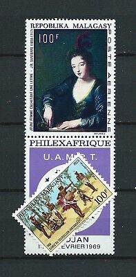 MADAGASCAR - 1968 YT 107 à 108 - POSTE AERIENNE - TIMBRES NEUFS** MNH LUXE