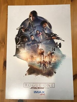 ROGUE ONE: A STAR WARS STORY: IMAX AMC Exclusive 11x17 POSTER #1 of 3!