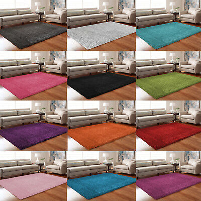 5 cm PILE X Large Thick Plain Soft Shaggy Rug Living Room Bedroom Floor Carpets