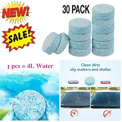 Car Window Glass Cleaner Tool Cleaning Windshield Clean Auto Washer 30 Tablets
