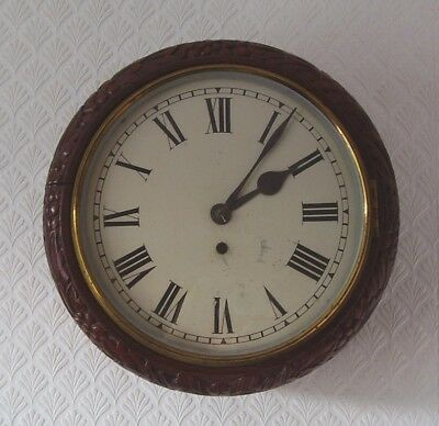 Antique Wall Clock Carved Case Fusee Movement Signd Frederick J Lockwood London