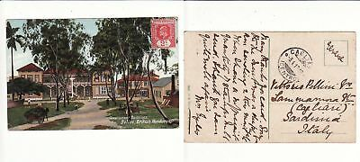 British Honduras to Italy BELIZE Edward VII 2c Government Buildings ppc 1912