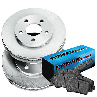 Fit 1975-1978 Mercedes-Benz 280S, 450SL Rear Blank Brake Rotors+Ceramic Pads