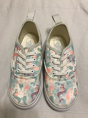 Vans Girls Authentic Elastic Sneakers Mermaid Ice Flow Glitter Toddler Size  10 6909f506b