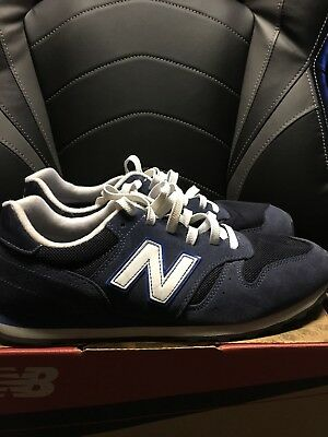 New Balance 373 Athletic Shoes Men's Size 10 Navy Blue Suede ML373NAY NEW