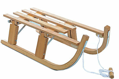 ASPEN TOBOGGAN SLEDGE TRADITIONAL WOODEN 80cm FOLDING SLEIGH NEW 50% OFF