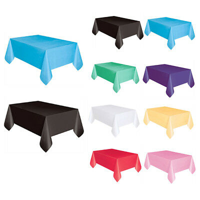 Disposable Plastic Table Cover Tablecloth Wedding Birthday Party