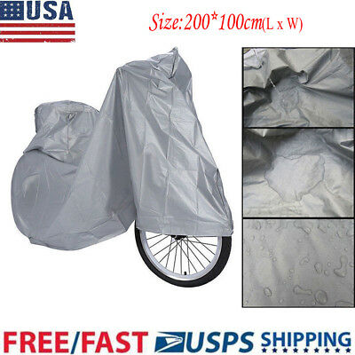 """83"""" Waterproof Bike Bicycle Cycling Rain Cover Dust Garage Outdoor Scooter USA"""
