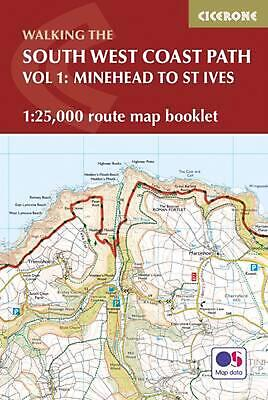 South West Coast Path Map Booklet - Minehead to St Ives by Paddy Dillon Paperbac