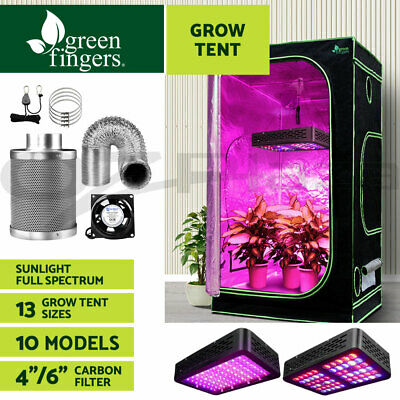 Greenfingers Hydroponics Grow Tent Kit LED Grow Light Ventilation Kit Filter Fan