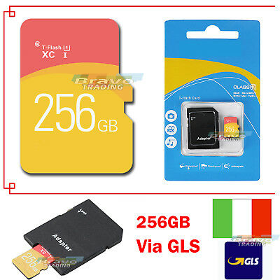 Scheda di memoria memory Stick Disk TF Flash SD Card & free adattatore 256GB