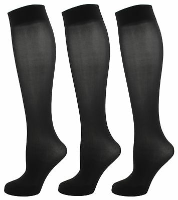 RJM Ladies Multipack Opaque Knee High Trouser Socks Size 4-7