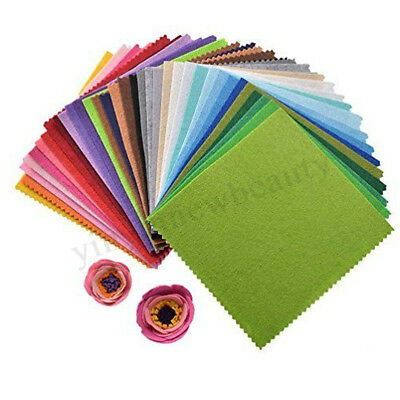 15cm 40PCS Assorted Color Wool Felt Fabric Sheets Patchwork Sewing DIY Craft New