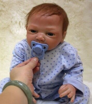 18''   Body Realistic Reborn Dolls Lifelike Baby Boy Newborn Doll Gifts