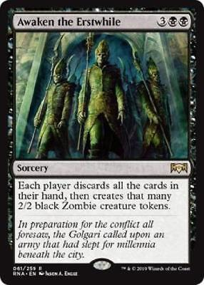 5x Awaken the Erstwhile 061/259 Near Mint MTG Ravnica Allegiance