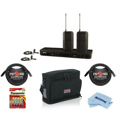 Shure BLX188/CVL Dual Lavalier System, J10: 584-608MHz Frequency With Acc Bundle