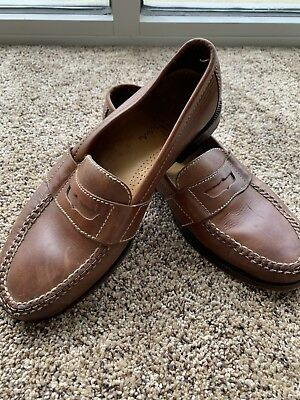 c5e72e87218 Cole Haan Douglas 01462 Size 9 M Brown Leather Slip On Penny Loafer Mens  Shoes