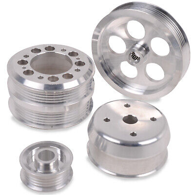 Alloy 4Pc Under Drive Engine Pulley Kit For Mazda Rx7 Rx-7 Fd3S 1.3 Turbo 93-95
