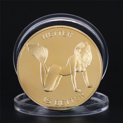 Lady Girl Coins Novelty Gold Plated Commemorative Challenge Coin Art Gifts AL