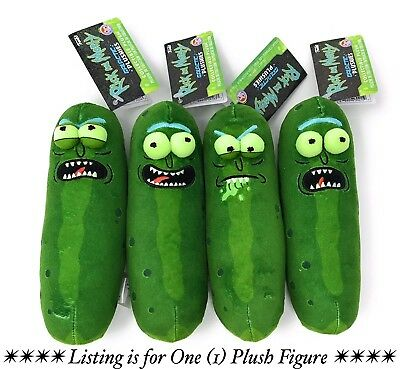 FunkoGalactic Plushies: Rick and Morty - Pickle Rick (Assorted Expressions)