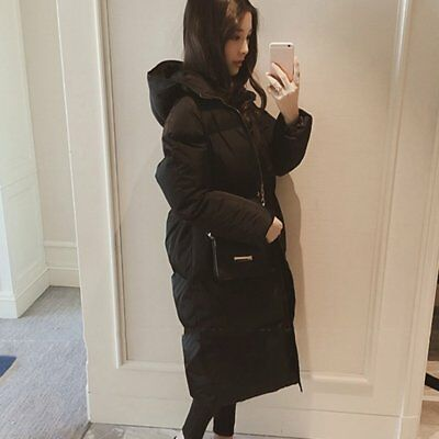 Women's Long Zipper Jacket Lady Long Cotton-padded Warm And Thick Coat LI