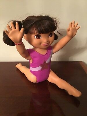 "Dora the Explorer Fantastic Gymnastics Doll Fisher Price 17"" Interactive Toy"