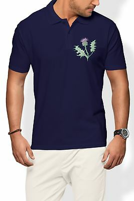 0aee6013c30 Scotland Rugby Polo Shirt Men Thistle Scottish Badge Six 6 World Nations  Cup Man