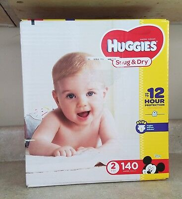 Huggies infant Snug and Dry Size 2 Disposable Diapers - 140 Count for babies