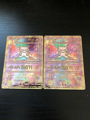 Two Ancient Mew Pokémon Cards In Fantastic Condition (practically Gem. Mint)