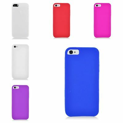 For Apple iPhone 5 5C 5S Rubber Silicone Skin Gel Case Cover