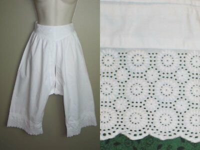 Antique Victorian-Edwardian Pantaloons Bloomers-Lingerie Embroidered Lace-Costum