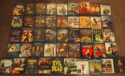 Assorted Blu-ray Movies Action/Adventure/Drama (Blu-Ray, Disc in MINT Condition)