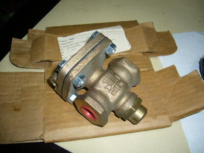 Pneumatic Bronze Flow Control Valve, Cash, Valve D53, 250psi 1/2in Npt, NEW