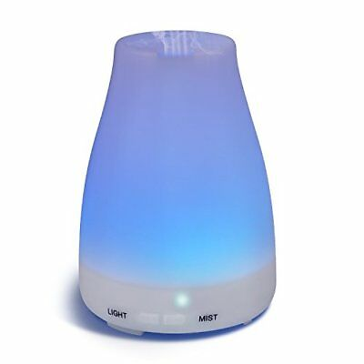 Diffusers,Homeweeks 100ml Colorful Essential Oil Diffuser  Adjustable Mist Mode