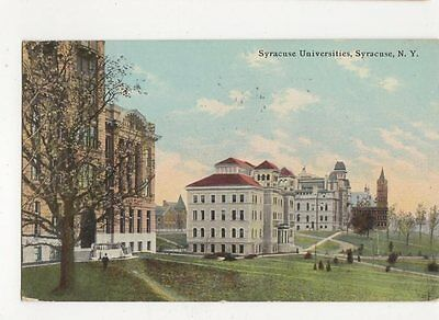 Syracuse Universities NY 1912 USA Vintage Postcard 138a