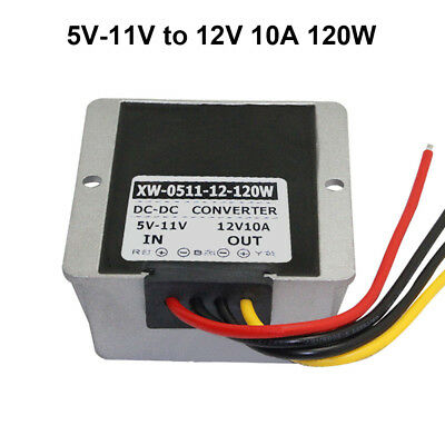 DC converter 5V 6V 7V 8V 9V 10V 11V to 12V 10A 120W Step up Power Supply Booster