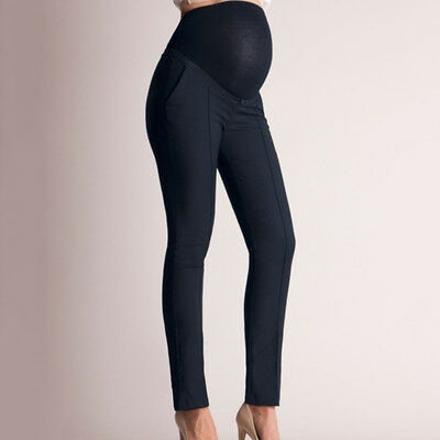 Women's Pregnant Leggings Maternity Pants Over Bump Full Length Trousers CB