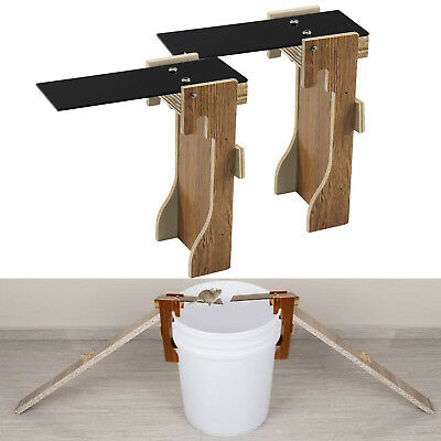 1/2/3/4/5x Original Walk The Plank Mouse Trap Auto Reset Humane Bucket Rat Trap